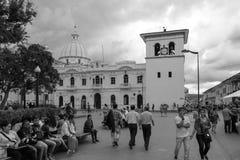 Κύριο τετράγωνο στη λευκιά πόλη popayan Κολομβία Νότια Αμερική στοκ εικόνες