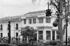 Κύριο τετράγωνο στη λευκιά πόλη popayan Κολομβία Νότια Αμερική στοκ φωτογραφία με δικαίωμα ελεύθερης χρήσης