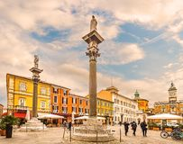 Κύριο τετράγωνο στη Ραβένα στην Ιταλία Στοκ εικόνα με δικαίωμα ελεύθερης χρήσης
