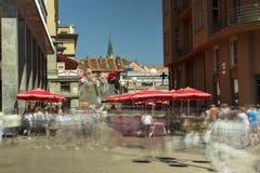 Κύριο τετράγωνο στο Ζάγκρεμπ, Κροατία Στοκ εικόνα με δικαίωμα ελεύθερης χρήσης