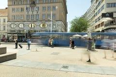 Κύριο τετράγωνο στο Ζάγκρεμπ, Κροατία Στοκ Εικόνες