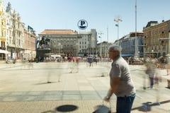 Κύριο τετράγωνο στο Ζάγκρεμπ, Κροατία Στοκ φωτογραφίες με δικαίωμα ελεύθερης χρήσης