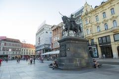 Κύριο τετράγωνο στο Ζάγκρεμπ, Κροατία Στοκ φωτογραφία με δικαίωμα ελεύθερης χρήσης