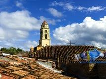 Κύριο τετράγωνο στο Τρινιδάδ, χαρακτηριστική άποψη της μικρής πόλης, Κούβα Στοκ φωτογραφίες με δικαίωμα ελεύθερης χρήσης