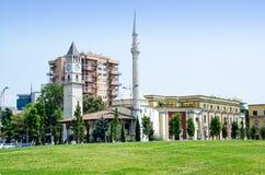 Κύριο τετράγωνο των Τιράνων στοκ φωτογραφίες