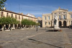 Κύριο τετράγωνο Palencia, Καστίλλη Υ Leon, Ισπανία στοκ εικόνες
