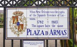 Κύριο τετράγωνο - Plaza Δ Armas στη γαλλική συνοικία της Νέας Ορλεάνης - ΝΈΑ ΟΡΛΕΆΝΗ, ΛΟΥΙΖΙΆΝΑ - 18 Απριλίου 2016 Στοκ εικόνα με δικαίωμα ελεύθερης χρήσης