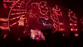Κύριο φεστιβάλ μουσικής σκηνών Μουσική παιχνιδιού DJs απόθεμα βίντεο
