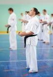 Κύριο karate δίνει ένα μάθημα Στοκ Εικόνα