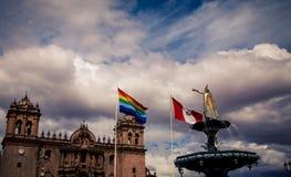 Κύριο plaza σε Cusco Περού Στοκ Εικόνα