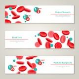 Κύτταρα αίματος Ιατρικά εμβλήματα έννοιας καθορισμένα Στοκ Εικόνες