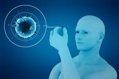 Κύτταρο και τρισδιάστατο άτομο Στοκ φωτογραφίες με δικαίωμα ελεύθερης χρήσης