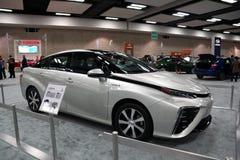 κύτταρο καυσίμου Toyota MIRAI στην επίδειξη στην έκθεση εκθέσεων αυτοκινήτου στοκ φωτογραφία