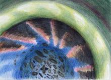 κύτταρο πράσινο Στοκ Εικόνα