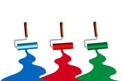 Κύλινδροι χρωμάτων Στοκ Φωτογραφία