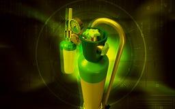 Κύλινδρος οξυγόνου Στοκ φωτογραφία με δικαίωμα ελεύθερης χρήσης