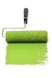 Κύλινδρος χρωμάτων με πράσινο στοκ φωτογραφία με δικαίωμα ελεύθερης χρήσης