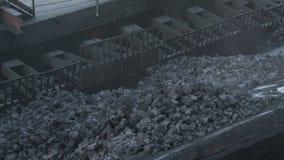 Κύλισμα στον άνθρακα απόθεμα βίντεο