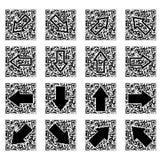 κώδικας βελών qr Στοκ Εικόνες