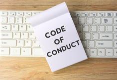 Κώδικας δεοντολογίας στοκ φωτογραφία με δικαίωμα ελεύθερης χρήσης