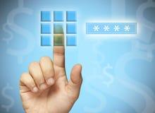 κώδικας του ATM Στοκ φωτογραφία με δικαίωμα ελεύθερης χρήσης