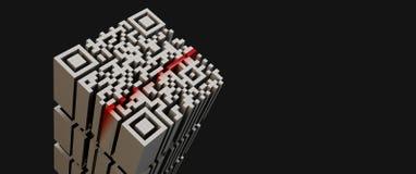 κώδικας qr Στοκ εικόνα με δικαίωμα ελεύθερης χρήσης