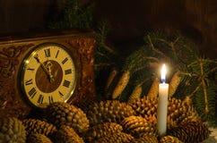 Κώνοι και κεριά Στοκ φωτογραφίες με δικαίωμα ελεύθερης χρήσης