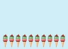 Κώνοι παγωτού στοκ εικόνα