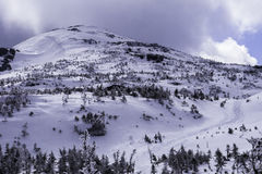 Κώνος κορυφών βουνών στοκ εικόνα