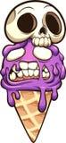 Κώνος παγωτού Zombie με το καπέλο κρανίων Απεικόνιση αποθεμάτων