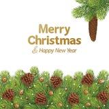 Κώνος πεύκων Χριστουγέννων διακοσμήσεων ελεύθερη απεικόνιση δικαιώματος