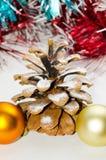 Κώνος πεύκων Χριστουγέννων Στοκ φωτογραφία με δικαίωμα ελεύθερης χρήσης