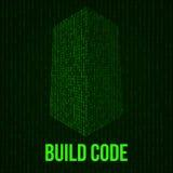 Κώδικας ουρανοξυστών Δυαδική ψηφιακή μορφή φουτουριστικού κτηρίου πόλεων Στοκ φωτογραφίες με δικαίωμα ελεύθερης χρήσης