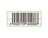 Κώδικας ράβδων με τη ακτίνα λέιζερ Στοκ εικόνα με δικαίωμα ελεύθερης χρήσης