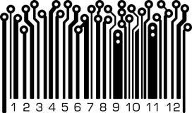 Κώδικας φραγμών στο ύφος PCB-σχεδιαγράμματος Στοκ εικόνα με δικαίωμα ελεύθερης χρήσης