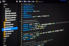 Κώδικας HTML και CSS στοκ εικόνα με δικαίωμα ελεύθερης χρήσης