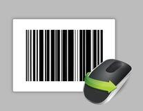 Κώδικας UPC και ασύρματο ποντίκι υπολογιστών Στοκ Εικόνα