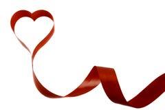 Κώλυμα σε ένα άσπρο υπόβαθρο υπό μορφή καρδιάς Στοκ εικόνες με δικαίωμα ελεύθερης χρήσης