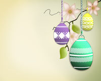 Κλάδος δέντρων αυγών Πάσχας Στοκ Εικόνες