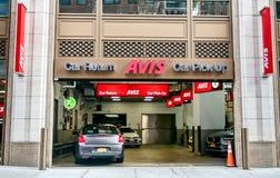Κλάδος αυτοκινήτων ενοικίου της Avis στοκ φωτογραφίες με δικαίωμα ελεύθερης χρήσης