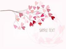 Κλάδος της αγάπης στη μορφή καρδιών απεικόνιση αποθεμάτων