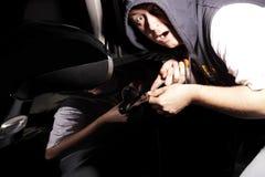 Κλέφτης αυτοκινήτων Στοκ Εικόνες