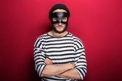 0 κλέφτης με τη μάσκα Στοκ φωτογραφίες με δικαίωμα ελεύθερης χρήσης