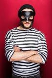 0 κλέφτης με τη μάσκα Στοκ Εικόνες