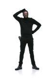 Κλέφτης στη μαύρη μάσκα Στοκ Εικόνες