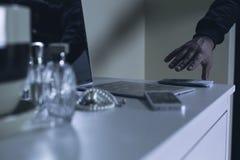 Κλέφτης στο εσωτερικό Στοκ Φωτογραφίες