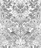 Κλέφτης φραουλών - συρμένο χέρι άνευ ραφής σχέδιο Στοκ εικόνες με δικαίωμα ελεύθερης χρήσης
