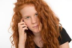 κλήση του κοριτσιού Στοκ φωτογραφία με δικαίωμα ελεύθερης χρήσης