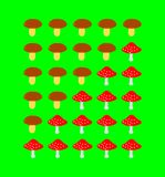 Κλίμακα εκτίμησης μανιταριών Στοκ φωτογραφία με δικαίωμα ελεύθερης χρήσης