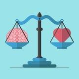 Κλίμακες, εγκέφαλος και καρδιά στοκ φωτογραφία με δικαίωμα ελεύθερης χρήσης